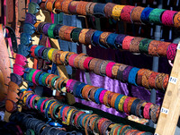 One of many colourful stalls