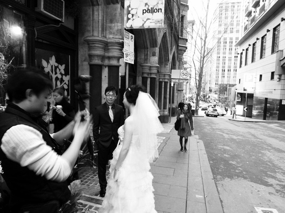 Wedding party Flinders Lane